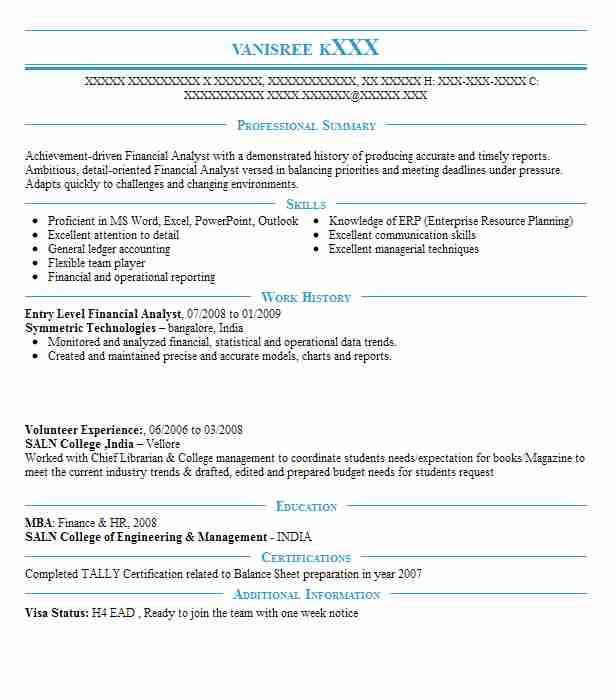 entry level financial analyst resume example livecareer jr free templates for mechanical Resume Jr Financial Analyst Resume