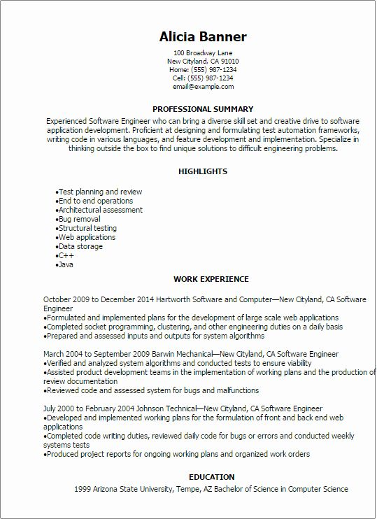 entry level software developer resume awesome template engineer professional summary for Resume Professional Summary For Engineering Resume