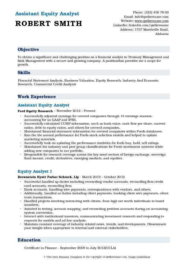 equity analyst resume samples qwikresume research template pdf production experience Resume Equity Research Resume Template