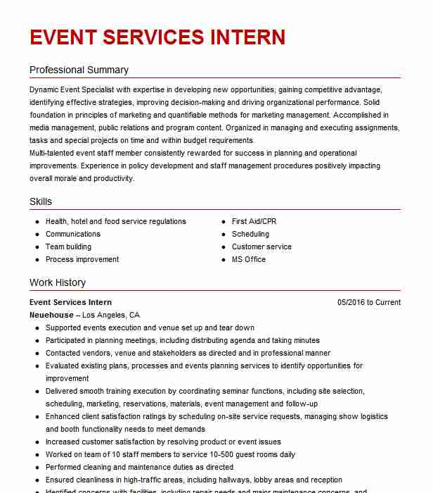 event services supervisor resume example lodging corporation indianapolis mackie college Resume Brown Mackie College Optimal Resume