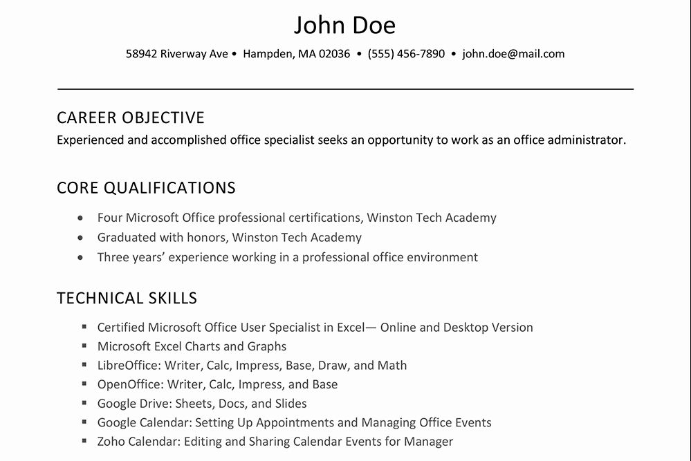 excel skills resume examples luxury to software on résumé in job for microsoft office Resume Skills For Resume Microsoft Office