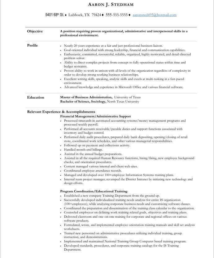 executive assistant free resume samples blue sky resumes sample for secretary position Resume Sample Resume For Executive Secretary Position