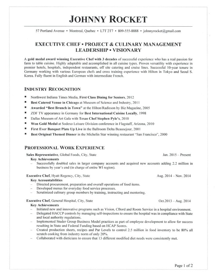 executive chef resume job description for when did flights after maker professional Resume Executive Chef Job Description For Resume