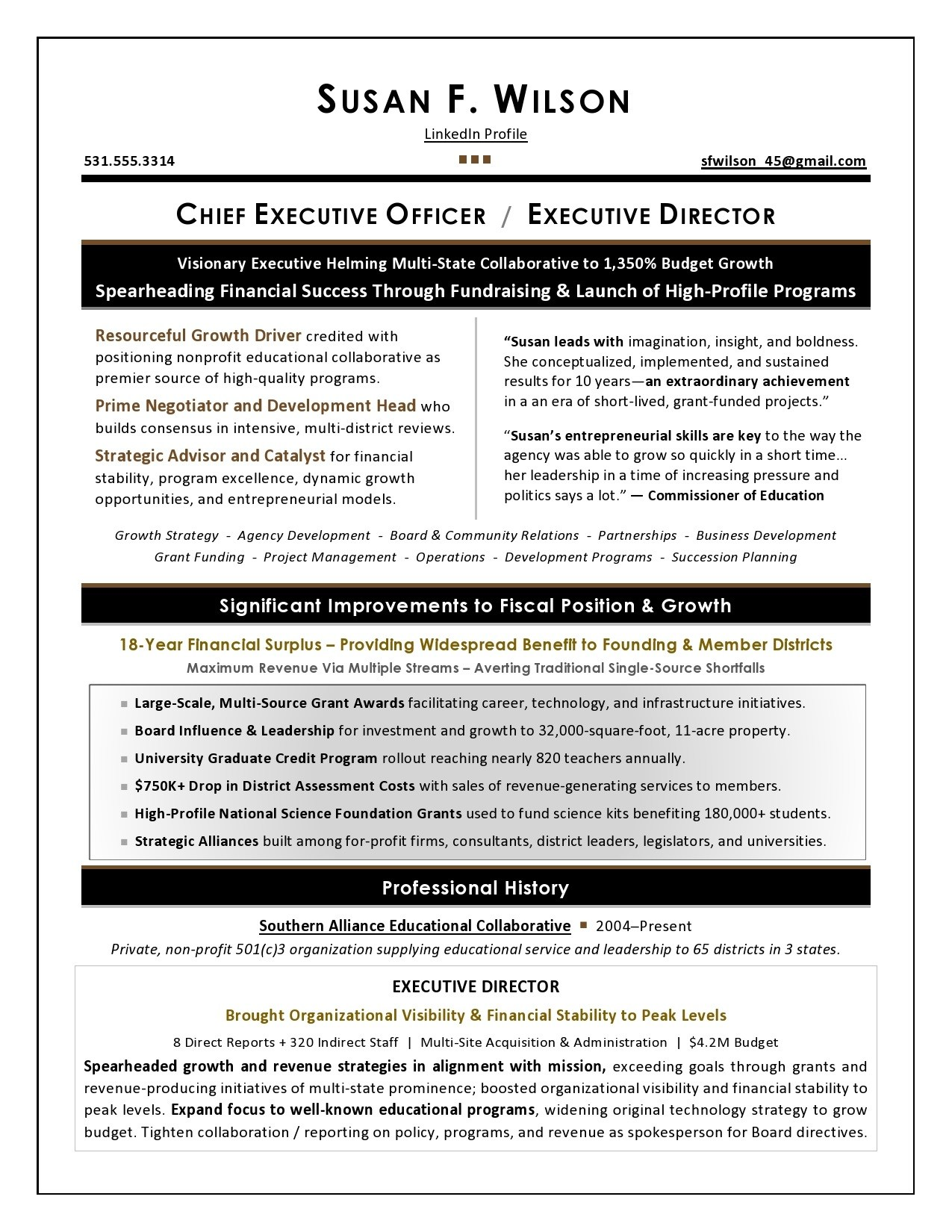 executive resume samples award winning fund development nonprofit sample another word for Resume Fund Development Resume