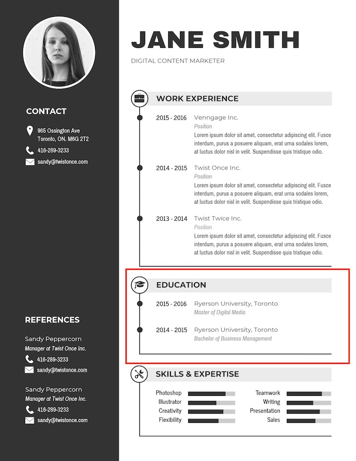 expert resume design ideas from hiring manager professional eye catching black simple Resume Professional Eye Catching Resume