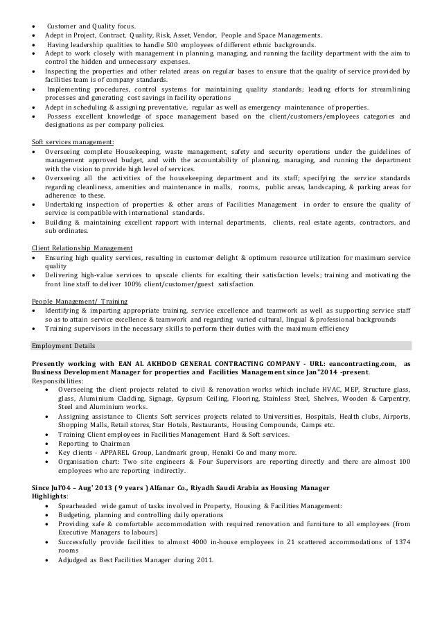 facilities operations manager cv facility resume sample email content responsibilities Resume Facility Operations Manager Resume Sample