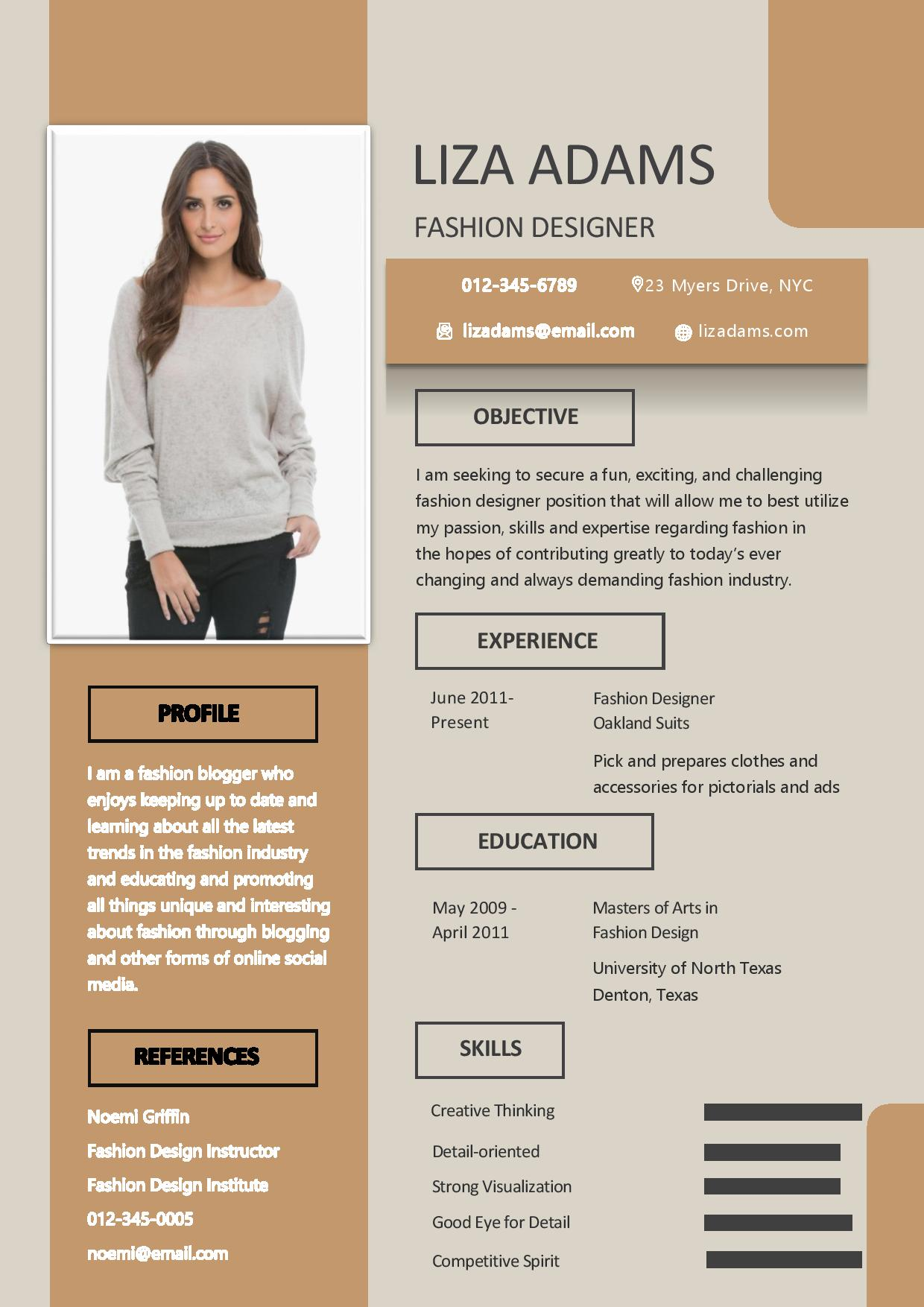 fashion designer resume dream creative for customer service experience best professional Resume Creative Resume For Fashion Designer