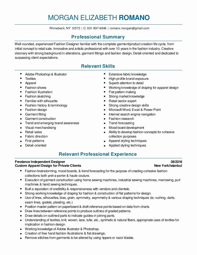 fashion designer resume sample unique design and merchandising pdf in entry level Resume Entry Level Fashion Merchandising Resume