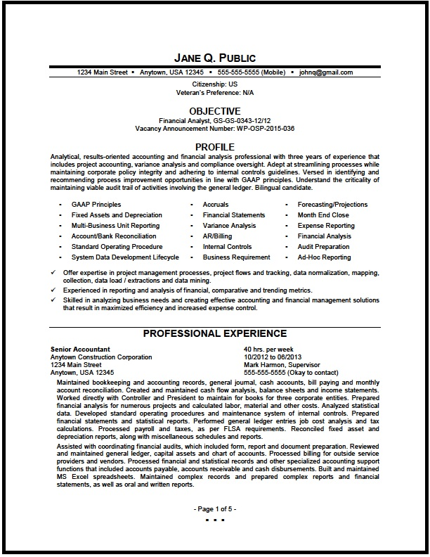 federal financial analyst resume sample the clinic examples pg1 difference between Resume Financial Analyst Resume Examples