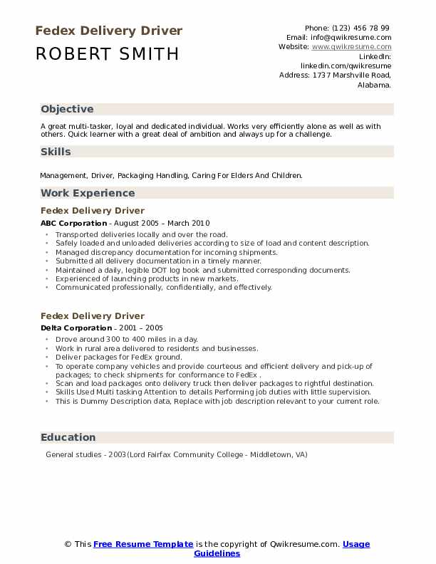 fedex delivery driver resume samples qwikresume example pdf fbi agent selenium for years Resume Fedex Driver Resume Example