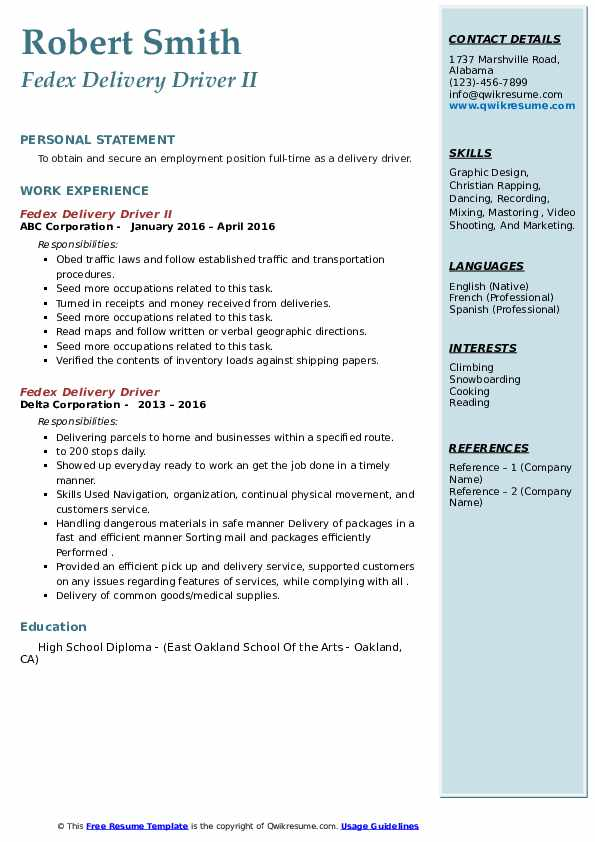 fedex delivery driver resume samples qwikresume example pdf law office receptionist high Resume Fedex Driver Resume Example