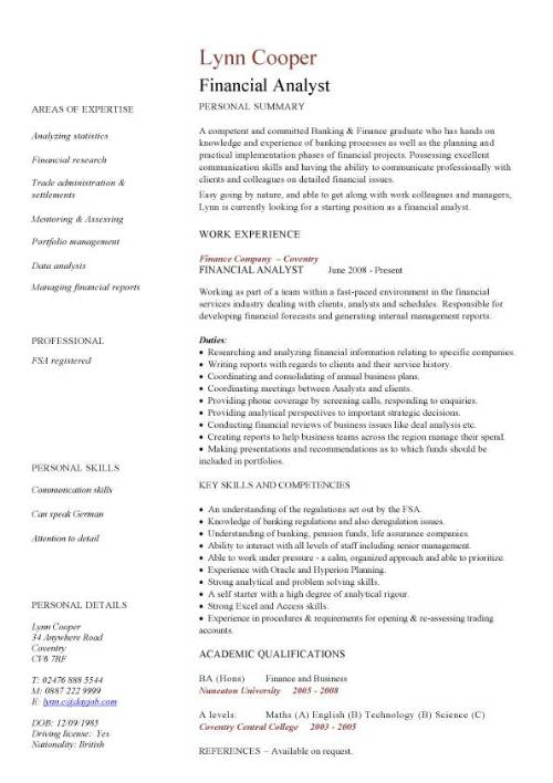 financial analyst cv sample interrogating data services resume examples pic management Resume Financial Analyst Resume Examples