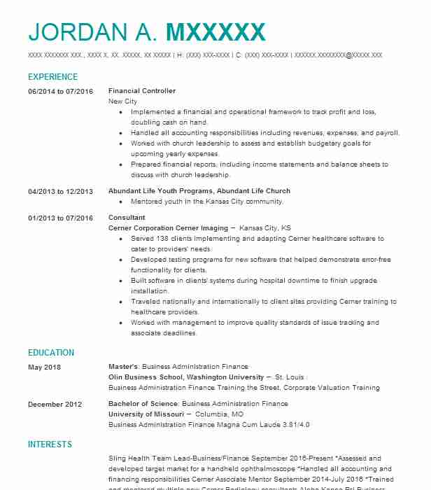 financial controller resume example accountant resumes livecareer keywords for Resume Financial Controller Resume