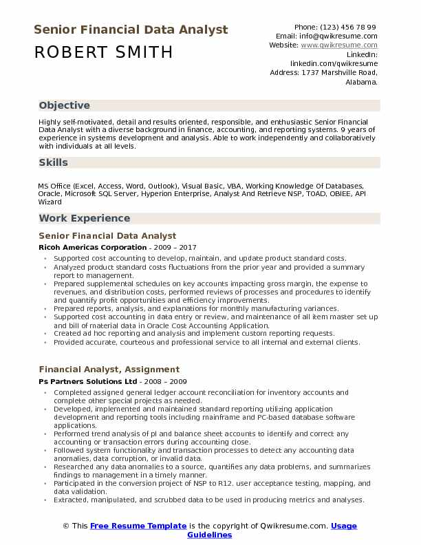 financial data analyst resume samples qwikresume sample excel experience pdf latex Resume Sample Resume Excel Experience