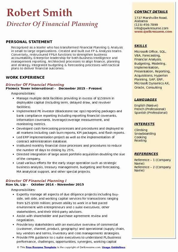 financial planning and analysis resume lovely director of res in examples customer Resume Financial Planning And Analysis Resume