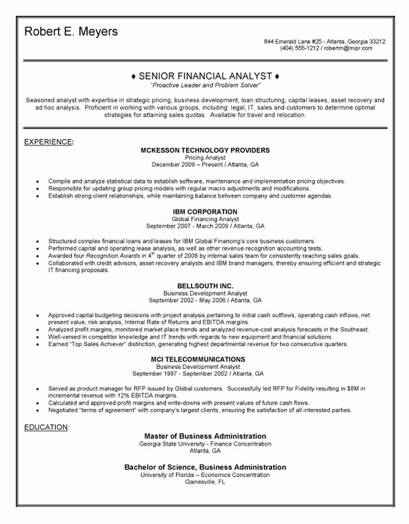 financial planning and analysis resume lovely senior analyst in business sample web Resume Senior Financial Analyst Resume Sample