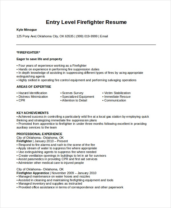 firefighter resume templates pdf free premium wildland entry level cfo format gecd mit Resume Wildland Firefighter Resume
