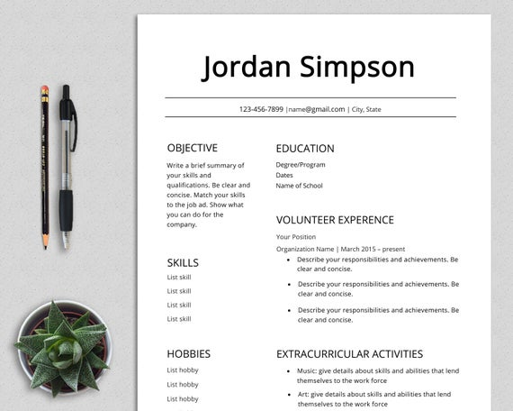 first cv template resume teenagers no experience high etsy examples for teenager job il Resume Resume Examples For Teenager First Job