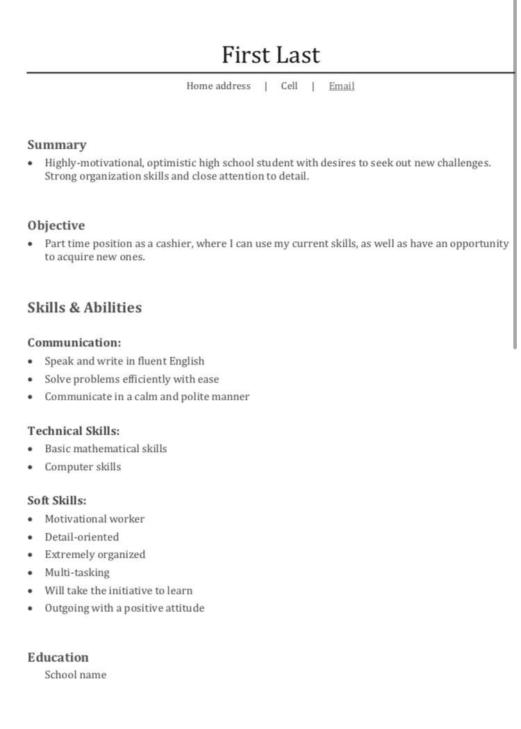 first resume for job it pretty empty can do to improve my resumes time student Resume First Time Student Resume