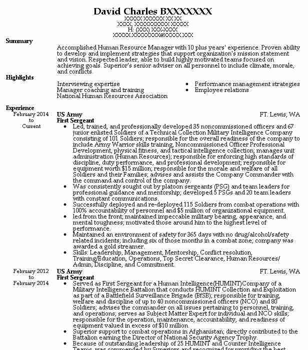 first sergeant resume example army carthage new email for submission samples yeoman Resume Army First Sergeant Resume