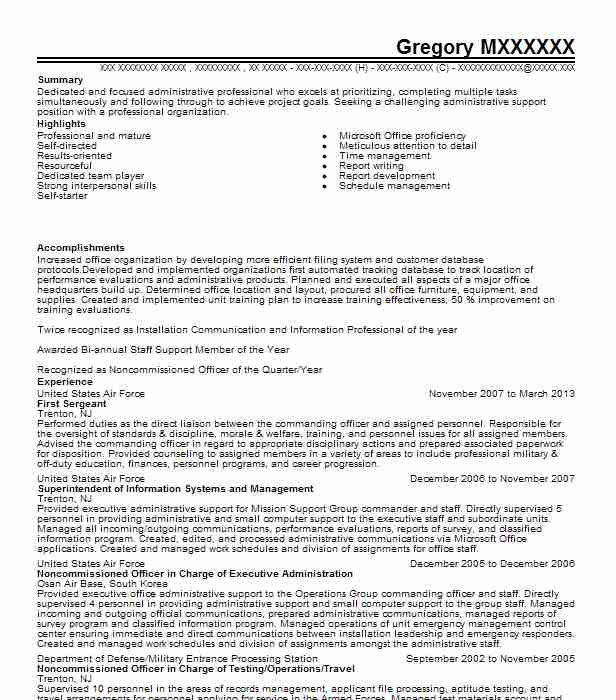 first sergeant resume example army carthage new google docs examples family nurse Resume Army First Sergeant Resume