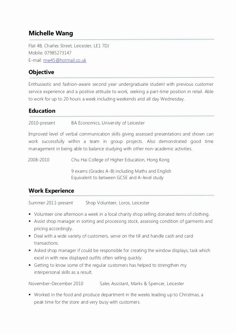 first time job resume new example part cv in examples template objective for seekers cash Resume Resume Objective For First Time Job Seekers