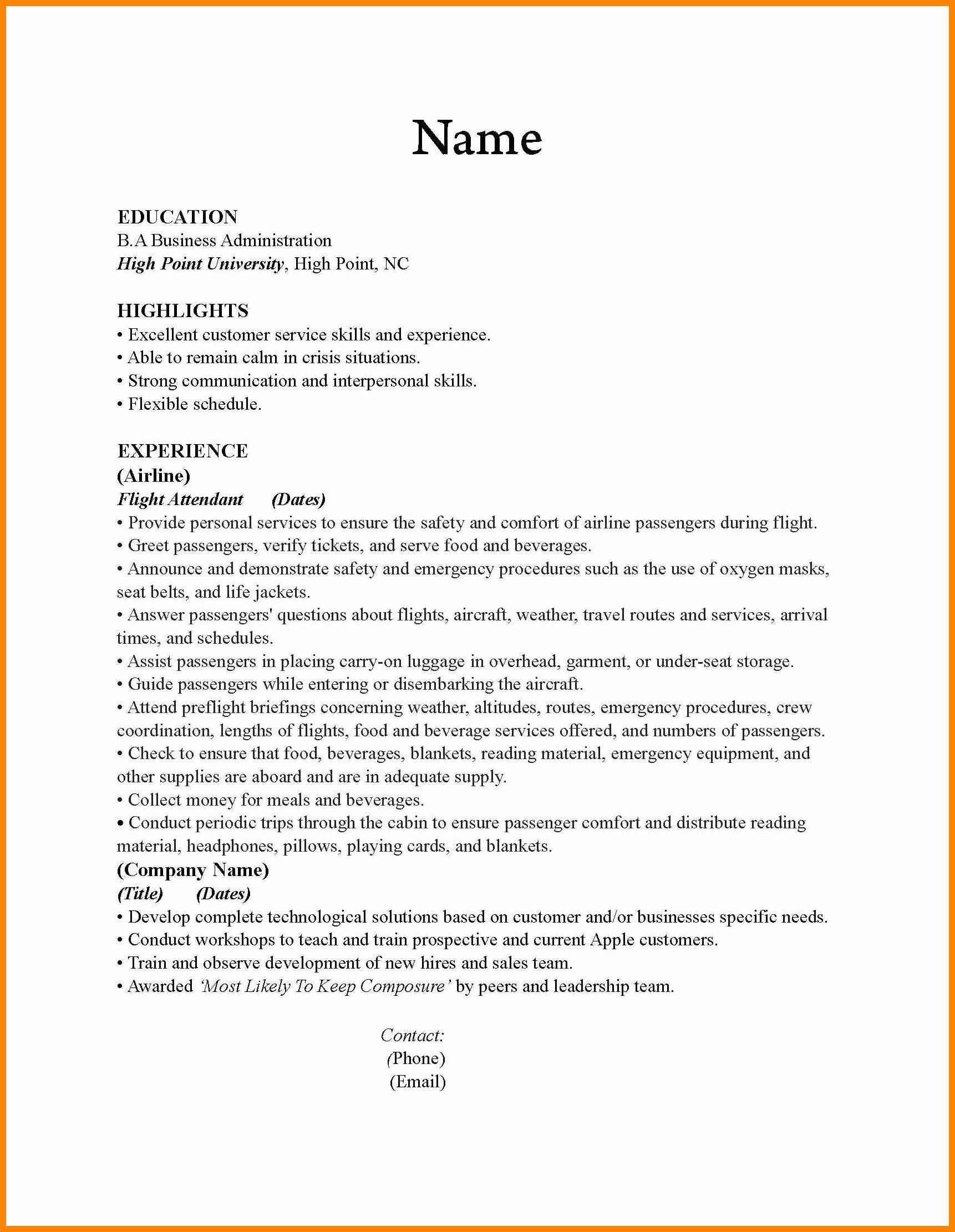 flight attendant resume no experience lovely cv for example in warehouse public affairs Resume Warehouse Attendant Resume