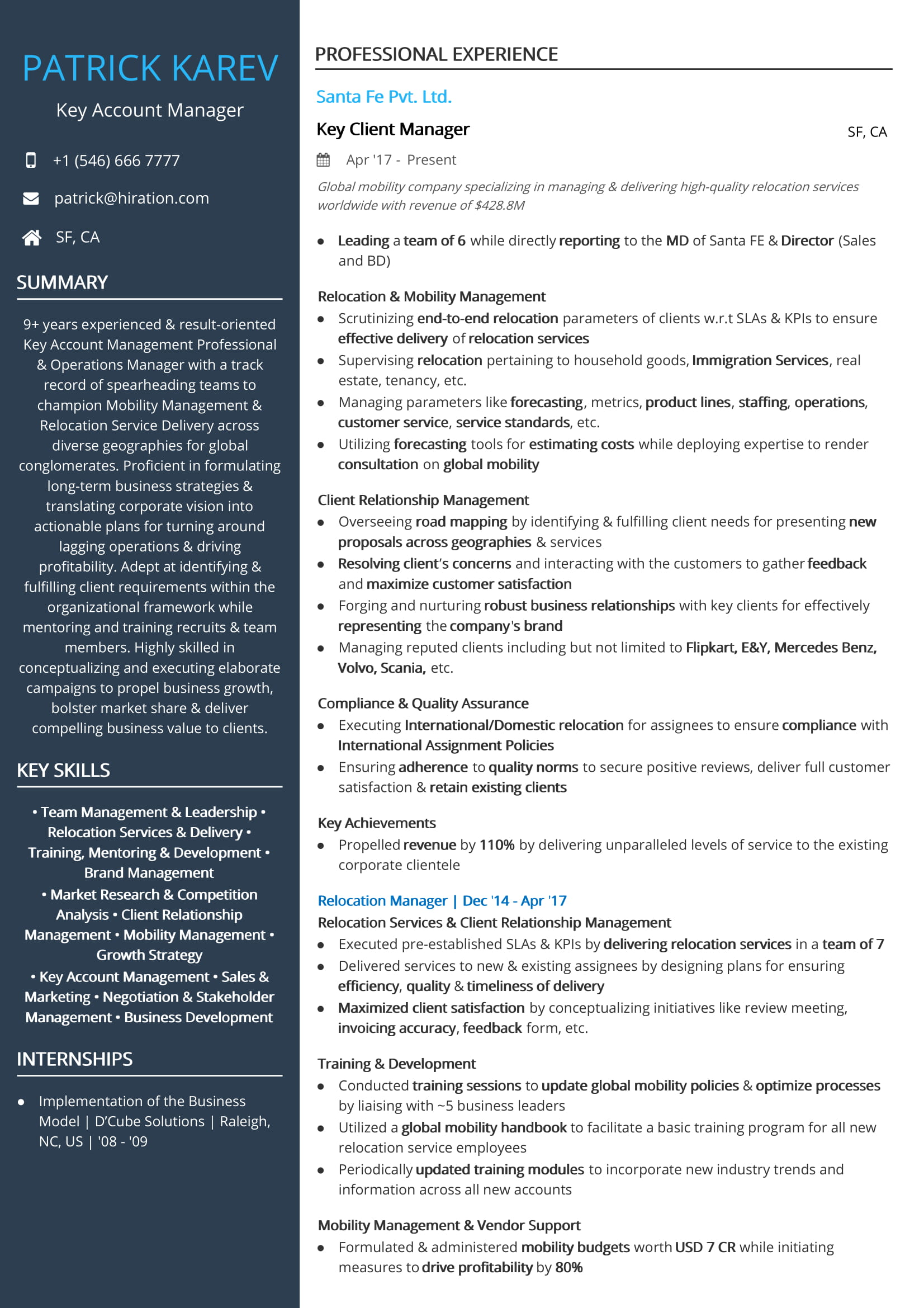 free account manager resume sample by hiration delivery head professional skills template Resume Delivery Head Resume Sample