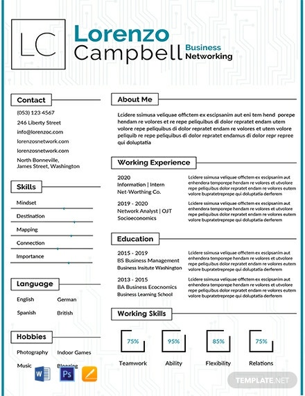 free designer resume cv template word indesign sample for hardware and networking Resume Sample Resume For Hardware And Networking Engineer