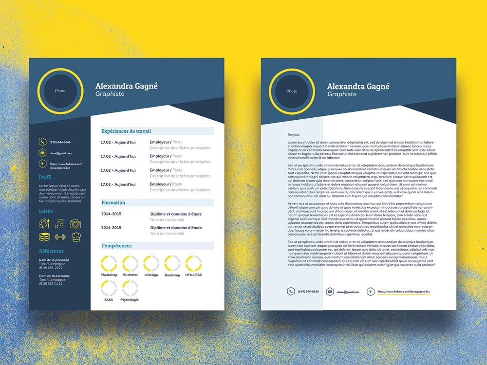 free infographic cv resume template with cover letter in illustrator creativebooster and Resume Free Resume And Cover Letter Templates