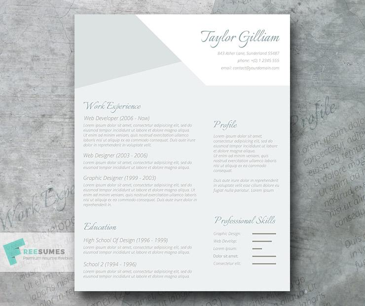 free modern subtle manager cv resume template in minimal style micr creativebooster Resume Minimalist Resume Template Word