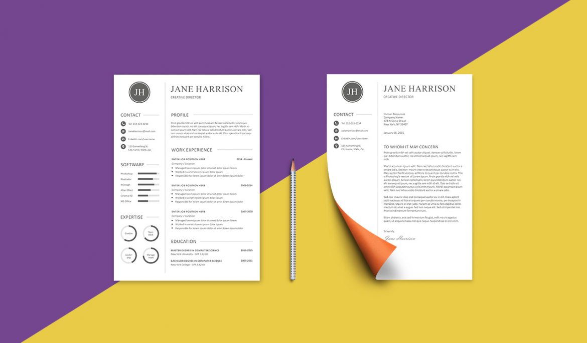 free resume template and cover letter graphicadi templates 1170x685 really good product Resume Free Resume And Cover Letter Templates