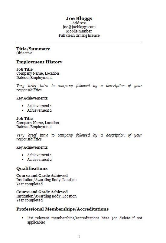 free resume templates in microsoft word format creativebooster easy template simple cv Resume Easy Resume Template Free