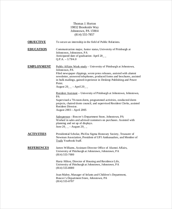 free sample college student resume templates in pdf ms word university template for Resume University Student Resume Template Word