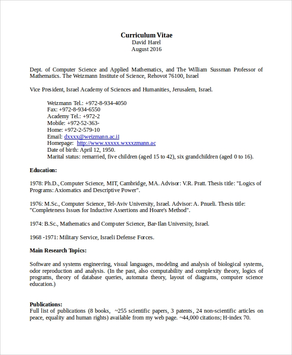 free sample computer science resume templates in ms word pdf for teacher fresher airline Resume Resume For Computer Teacher Fresher