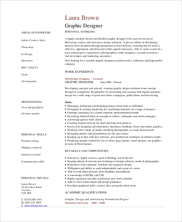 free sample graphic design resume templates in pdf designer objective example1 project Resume Graphic Designer Resume Objective