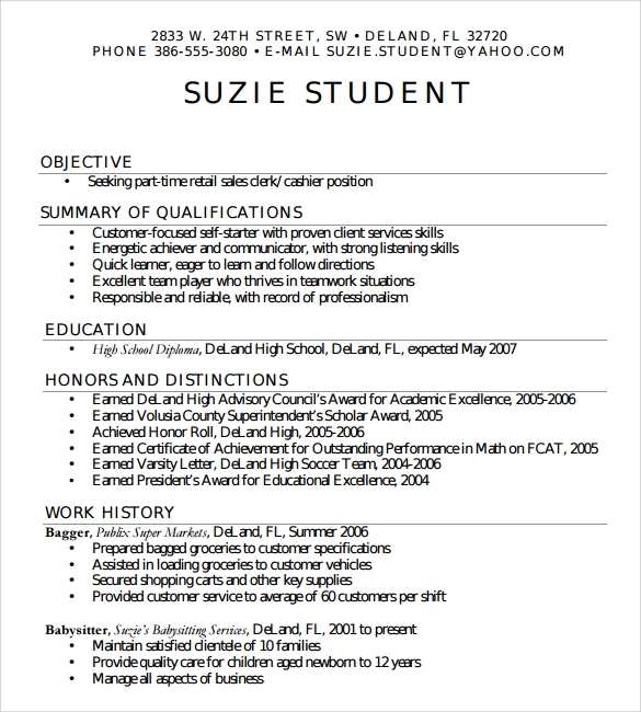 free sample high school resume templates in pdf ms word help for students simple student Resume Resume Help For High School Students