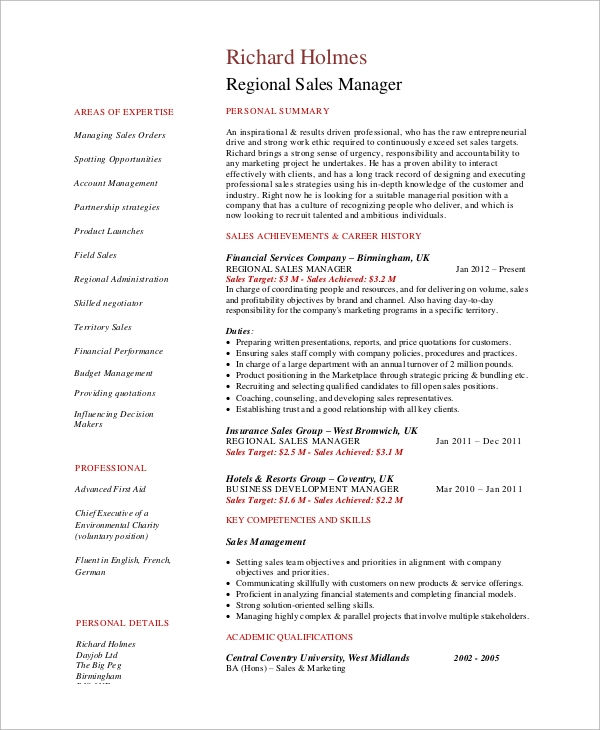free sample manager resume templates in ms word pdf regional paris marseille experience Resume Regional Manager Resume