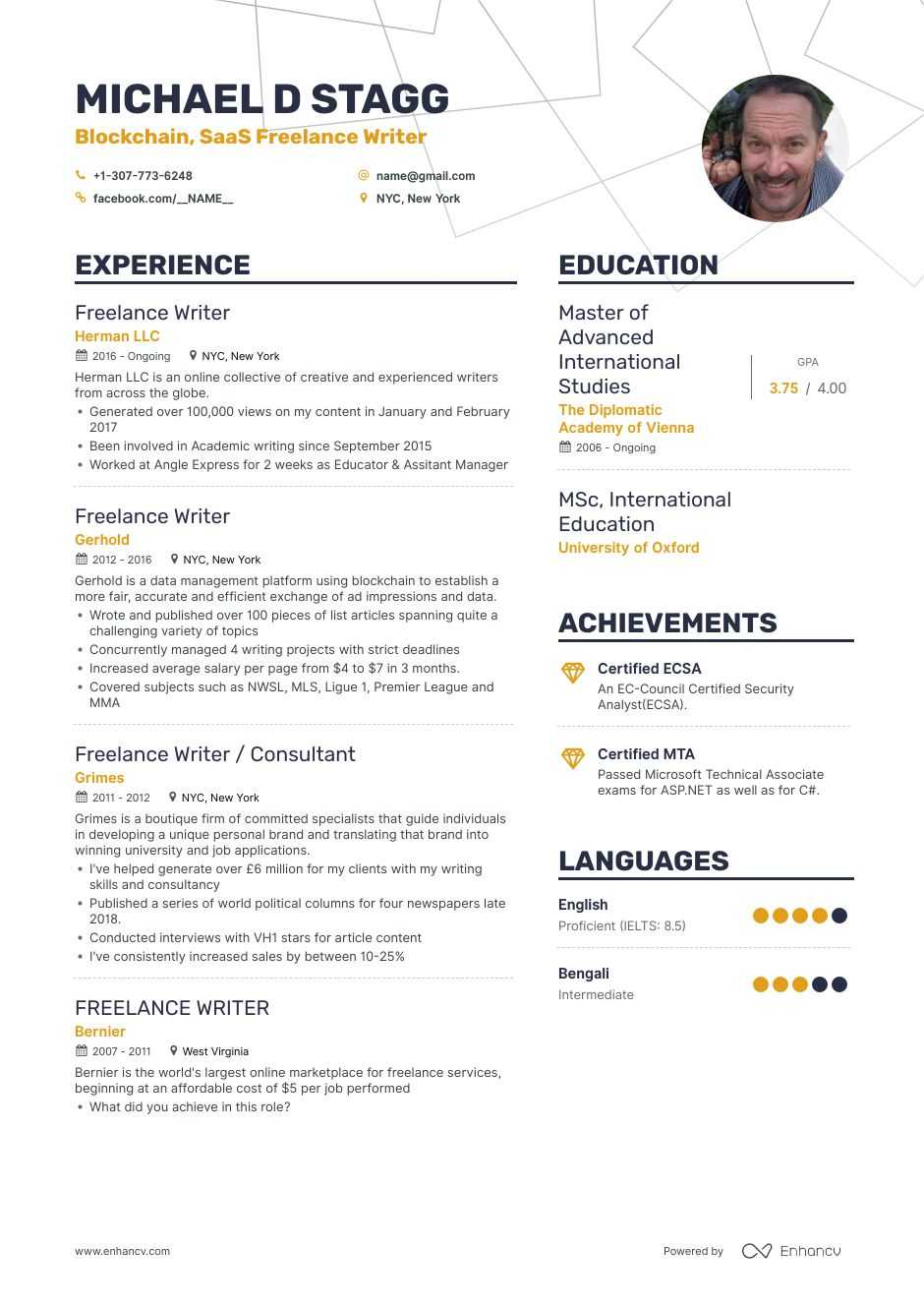 freelance writer resume examples and skills you need to get hired marketing content Resume Marketing Content Writer Resume