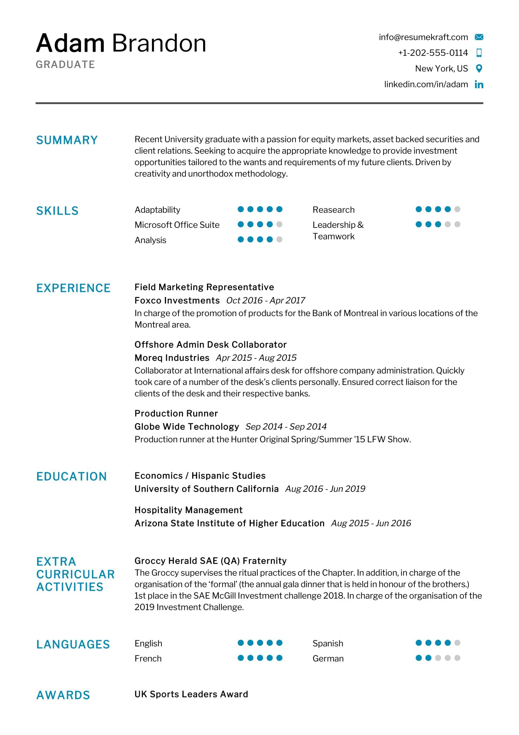 fresh graduate resume sample resumekraft best for medical examples social media Resume Best Resume For Fresh Graduate