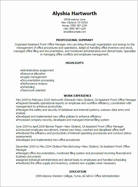 front desk duties resume new assistant manager templates try in office medical executive Resume Front Office Executive Fresher Resume