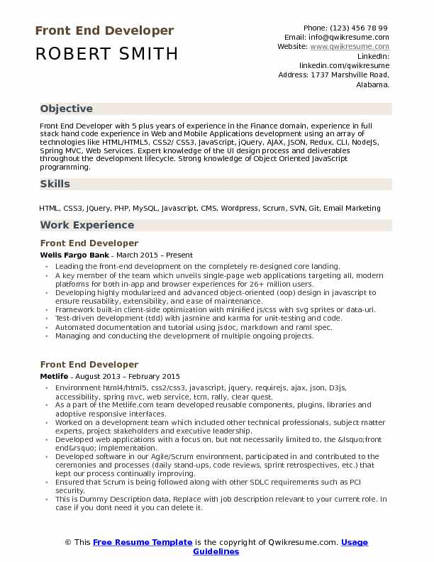 front end developer resume samples qwikresume for backend process pdf compliance manager Resume Resume For Backend Process