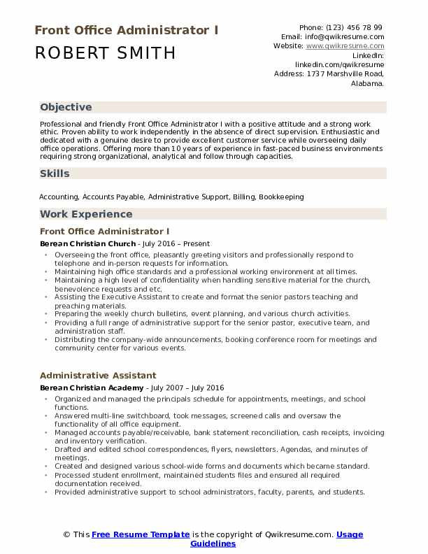 front office administrator resume samples qwikresume duties for pdf instructions social Resume Office Administrator Duties For Resume
