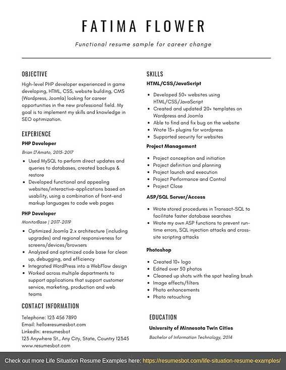 functional resume sample for career change templates pdf word resumes bot example Resume Career Change Resume Templates