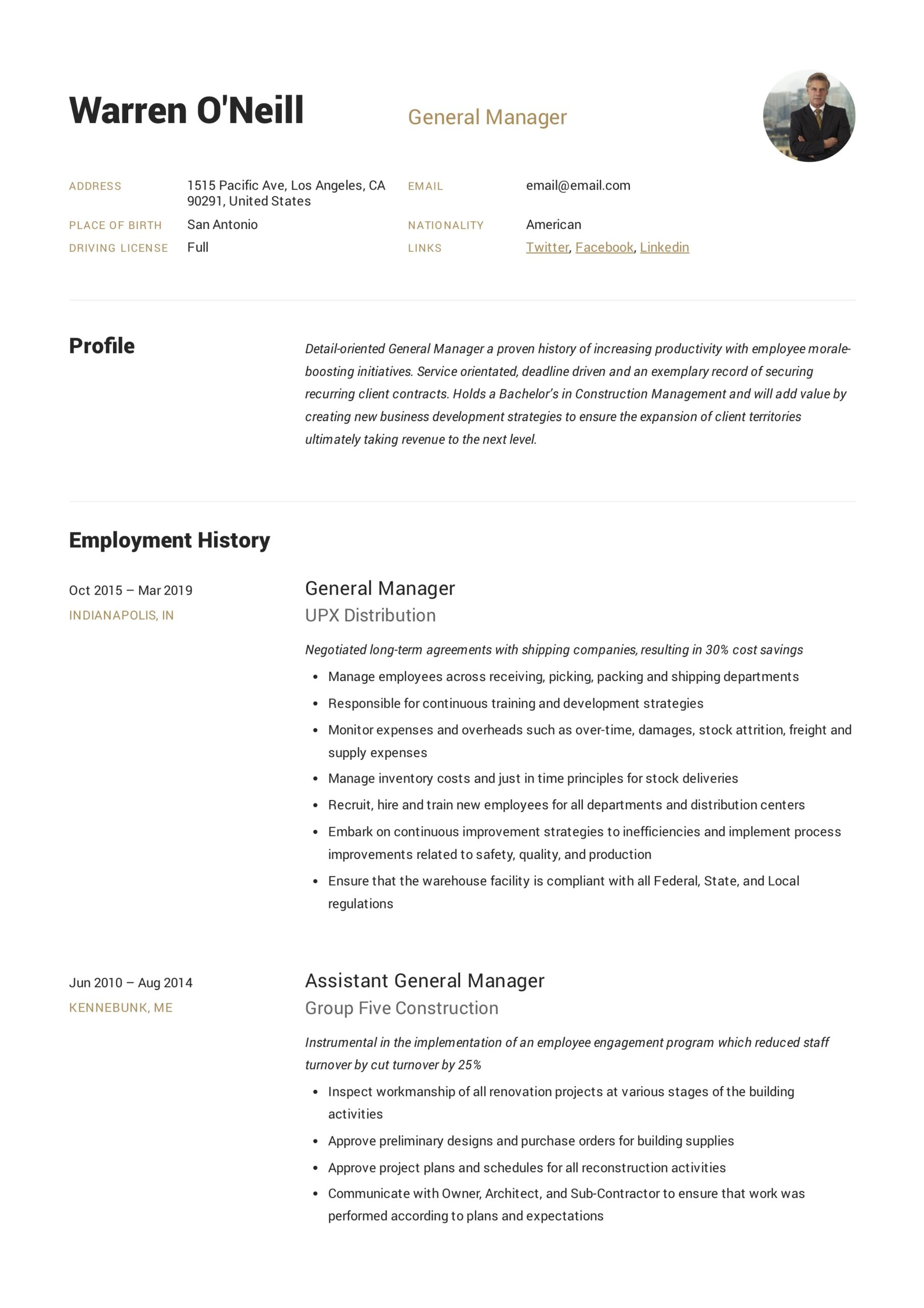 general manager resume writing guide examples pdf skills for neill public relations Resume Skills For General Manager Resume