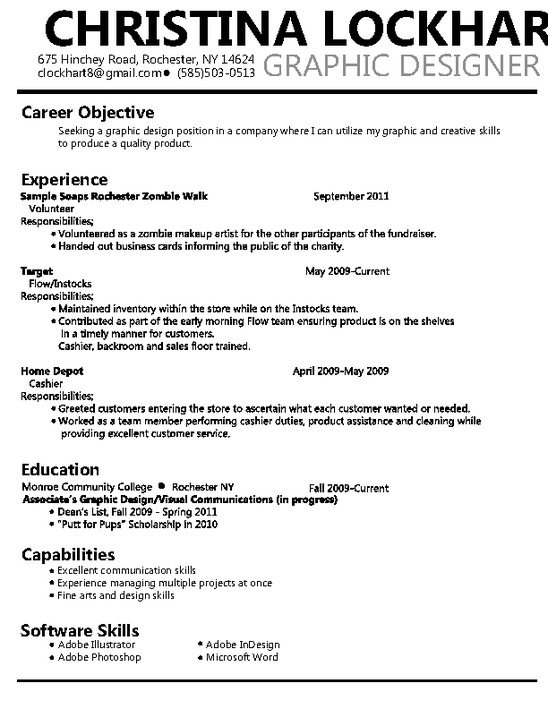 graphic design objective for resume designer fresh graduate without experience template Resume Designer Resume Objective