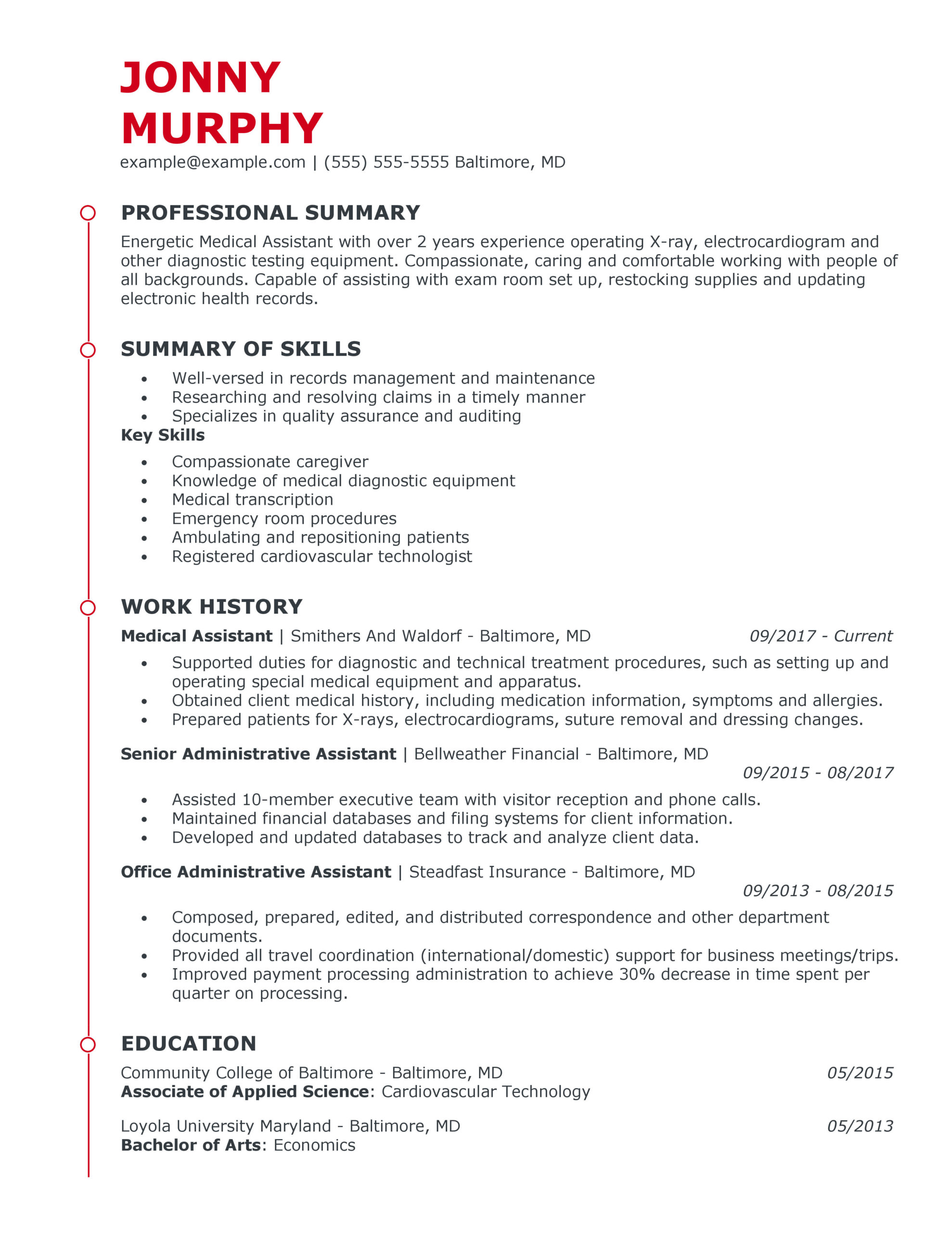 great healthcare support resume examples for myperfectresume over years experience Resume Over 10 Years Experience Resume