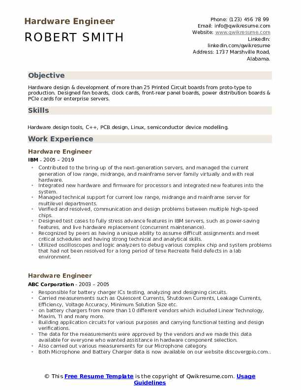 hardware engineer resume samples qwikresume sample for and networking pdf skills business Resume Sample Resume For Hardware And Networking Engineer