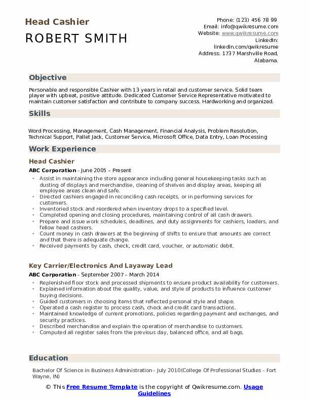 head cashier resume samples qwikresume experience pdf college job for high school Resume Cashier Experience Resume