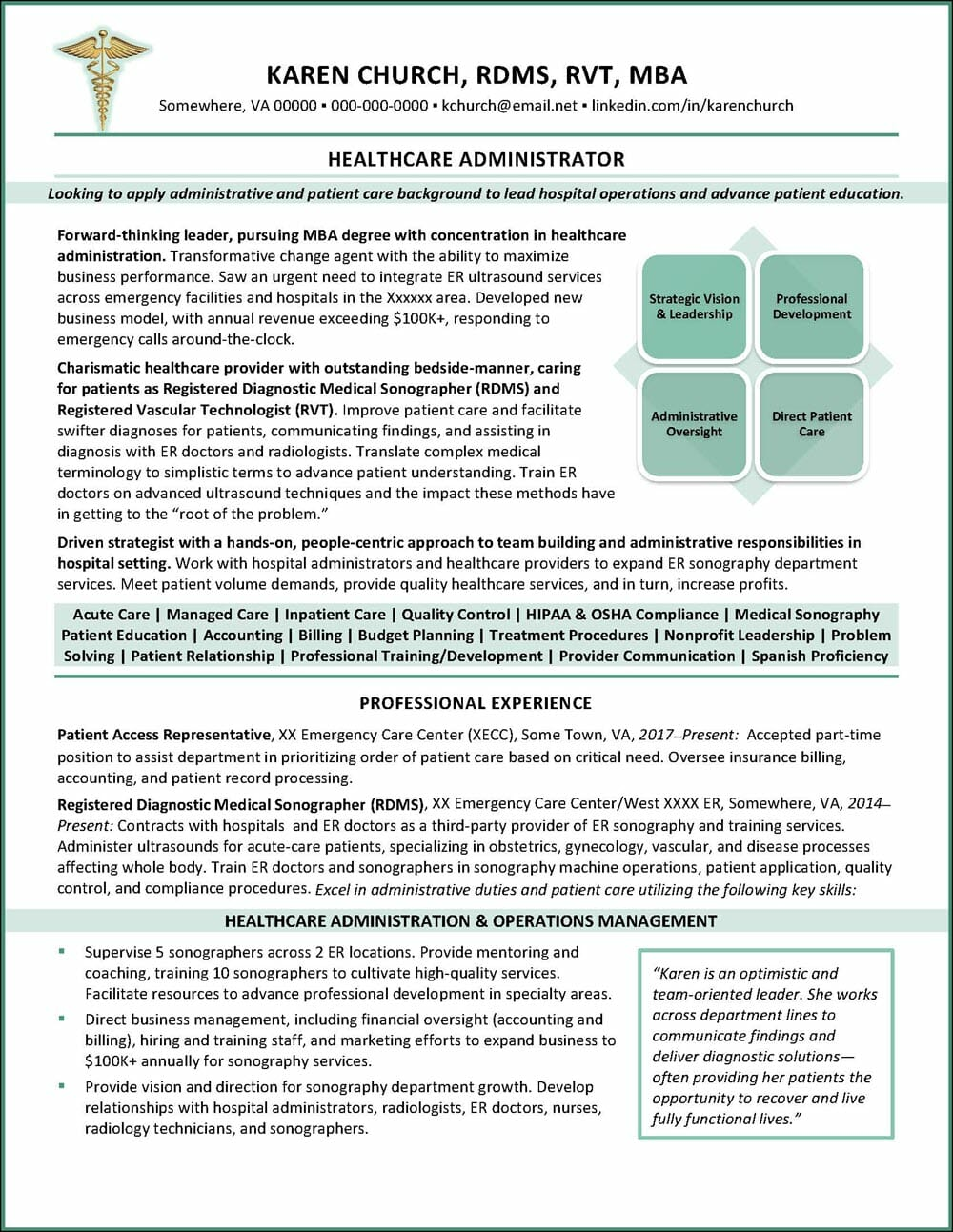 healthcare administrator resume example distinctive career services administration Resume Healthcare Administration Resume Samples